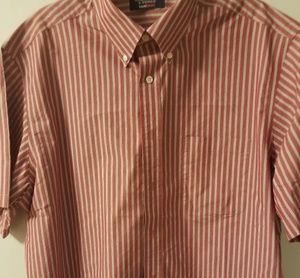 Roundtree & York XL stripped red white button down